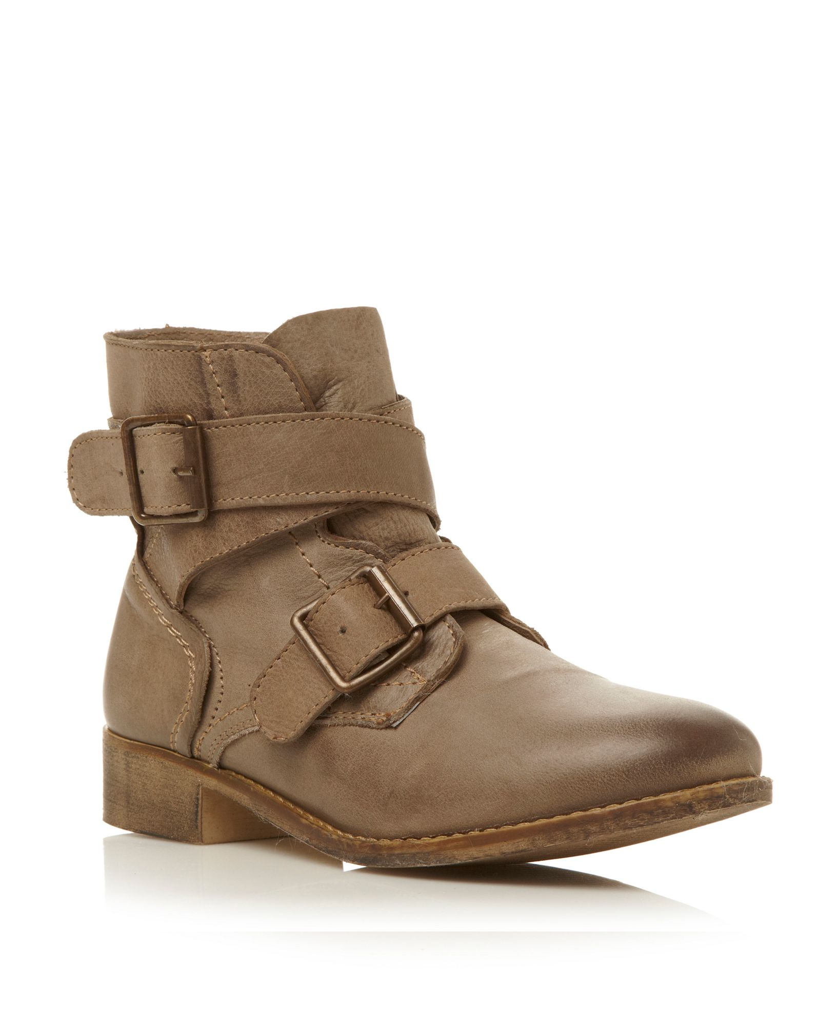 steve madden teritorydouble buckle ankle boots in