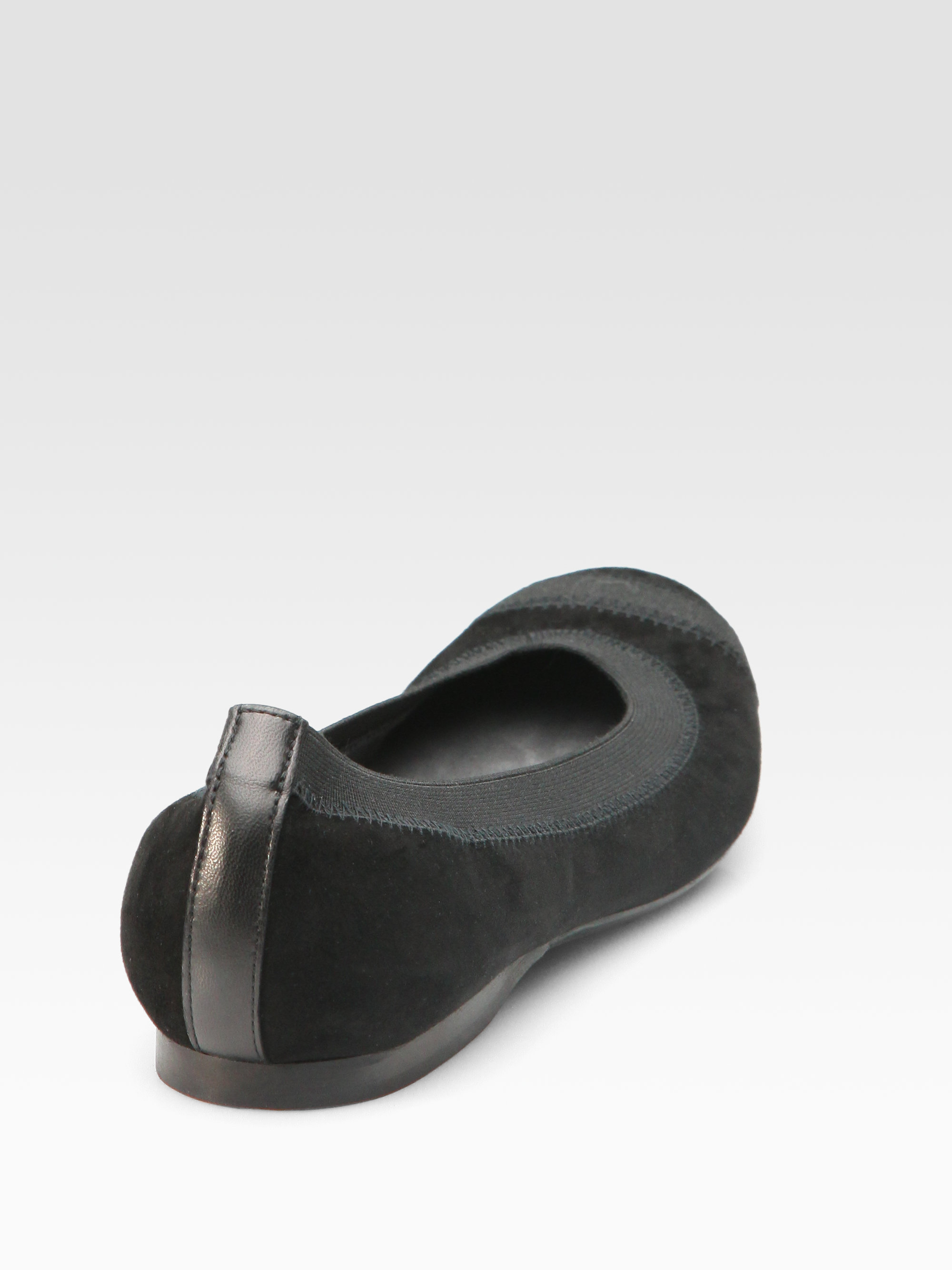 c86264186a5 Lyst - Stuart Weitzman Giveable Suede Ballet Flats in Black