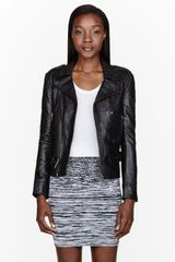 Surface To Air Black Nappa Leather Fecto Biker Jacket - Lyst