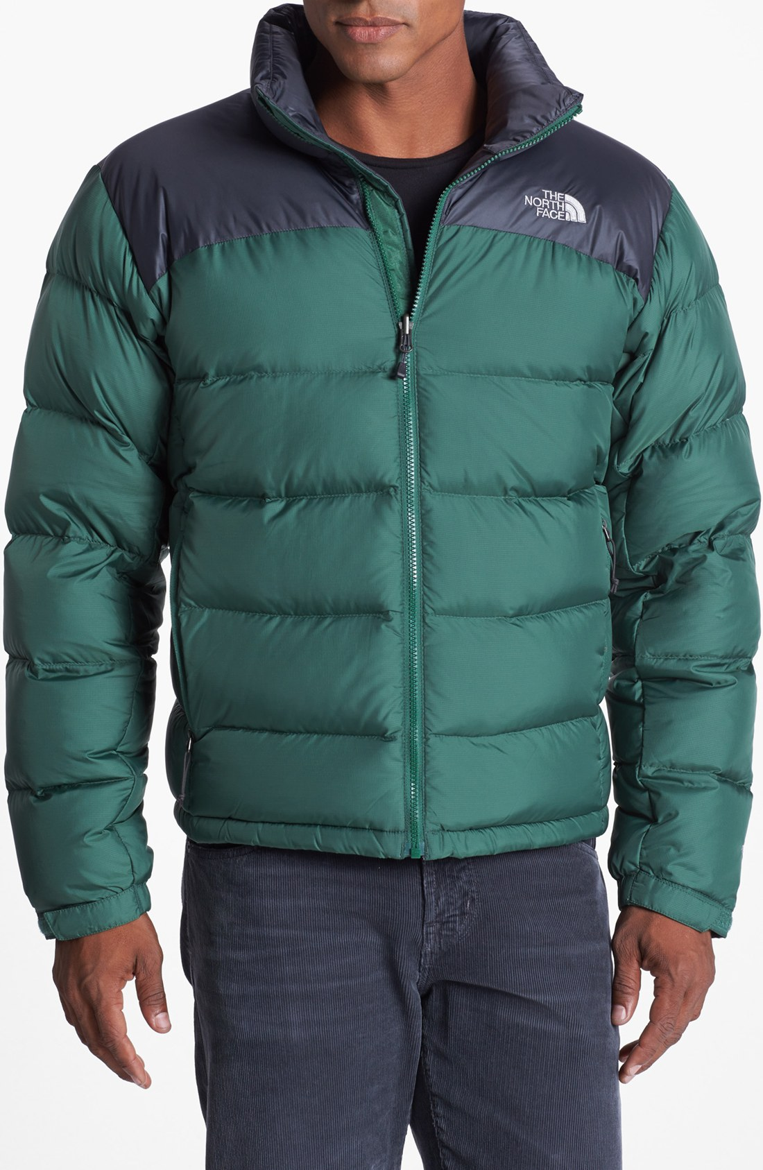 the north face nuptse 2 down jacket in green for men lyst. Black Bedroom Furniture Sets. Home Design Ideas