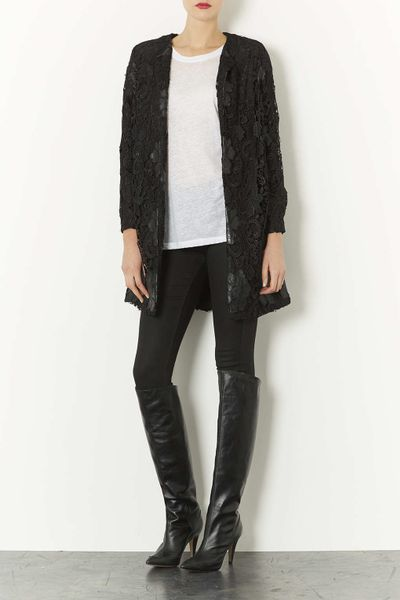 topshop betty asymetric knee high boots in black lyst