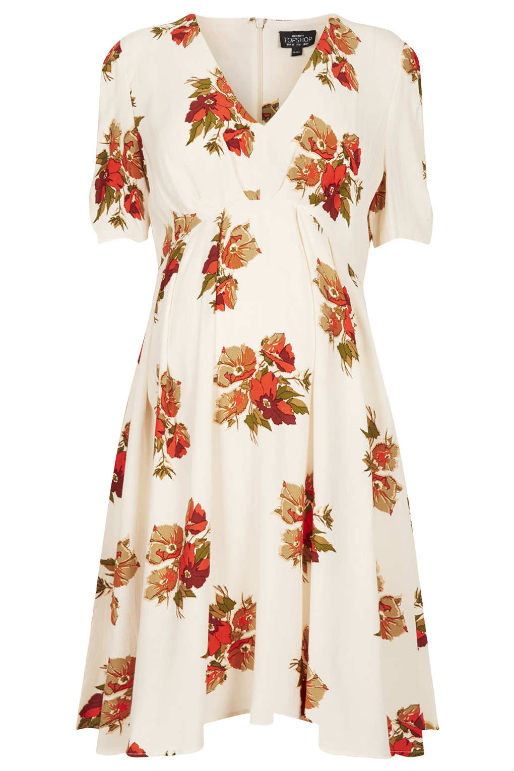 Lyst topshop maternity autumn floral dress in natural gallery mightylinksfo