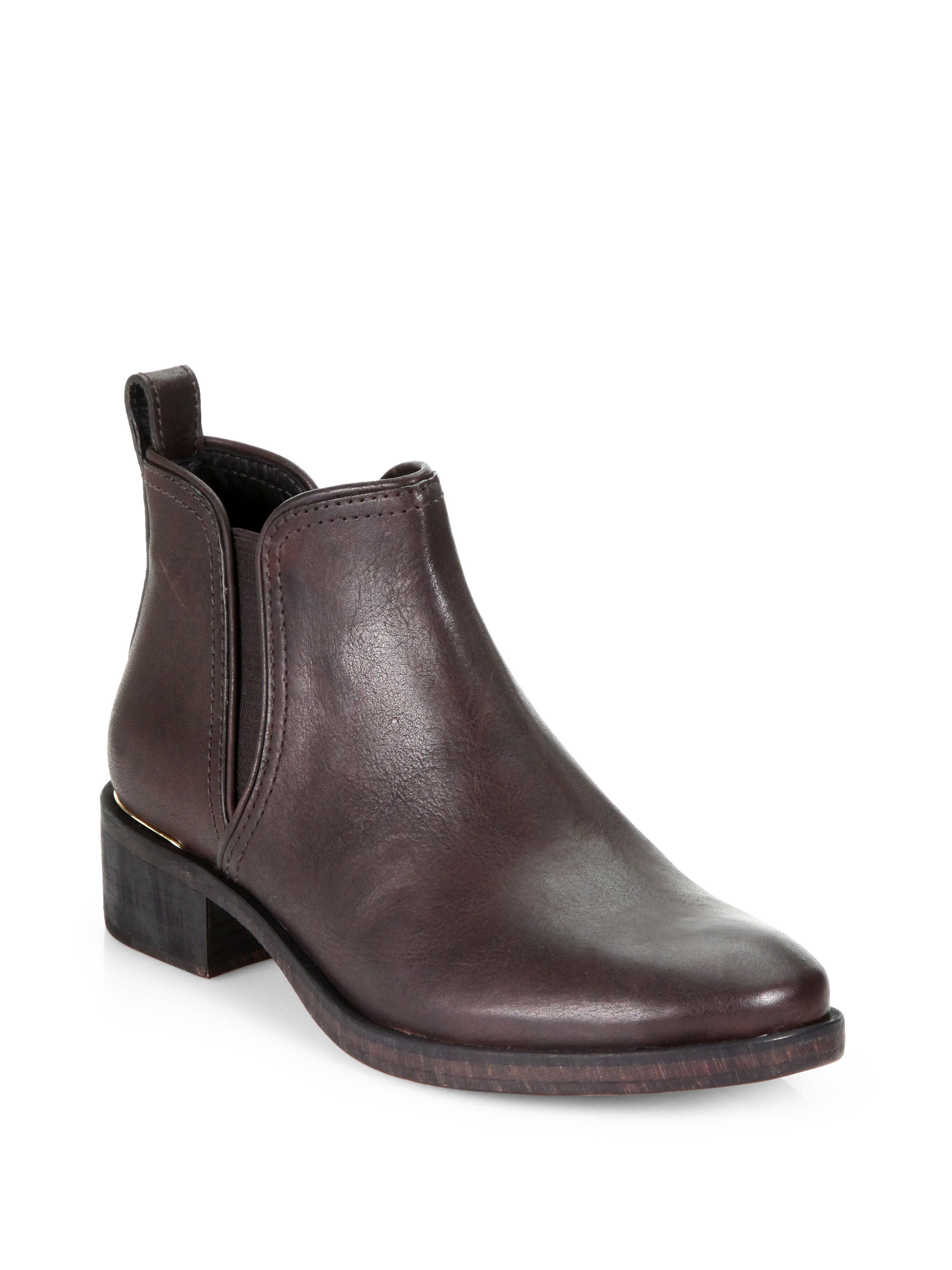 Tory burch Griffith Leather Ankle Boots in Brown