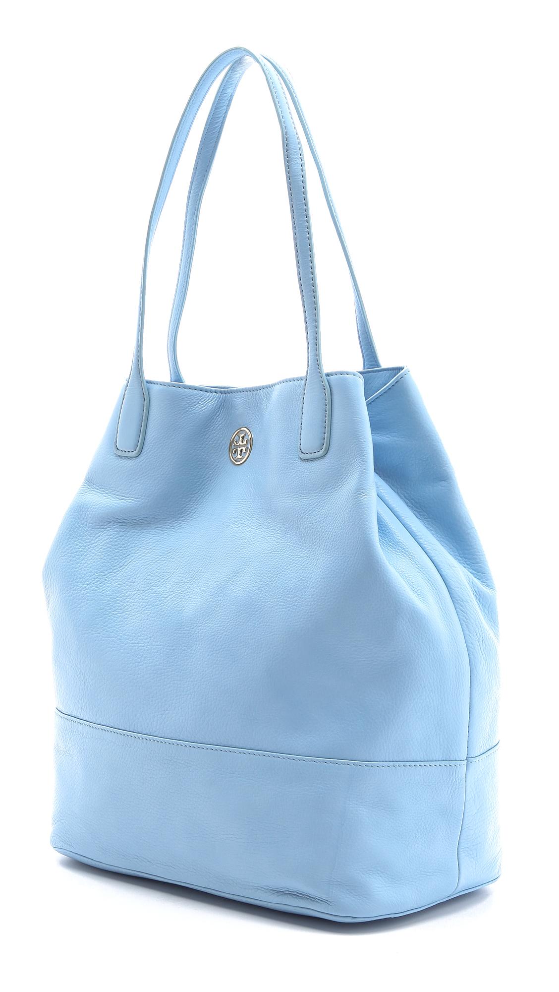 Lyst - Tory Burch Michelle Tote in Blue ba381942c5a7c