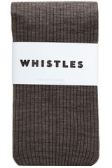 Whistles Marl Wool Rib Tights - Lyst