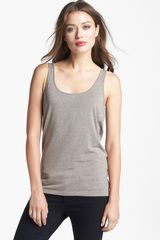 White + Warren Stretch Tank - Lyst