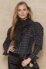 Blue Label Ruffled Plaid Shirt - Lyst