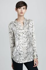 Equipment Ava Pythonprint Silk Blouse - Lyst
