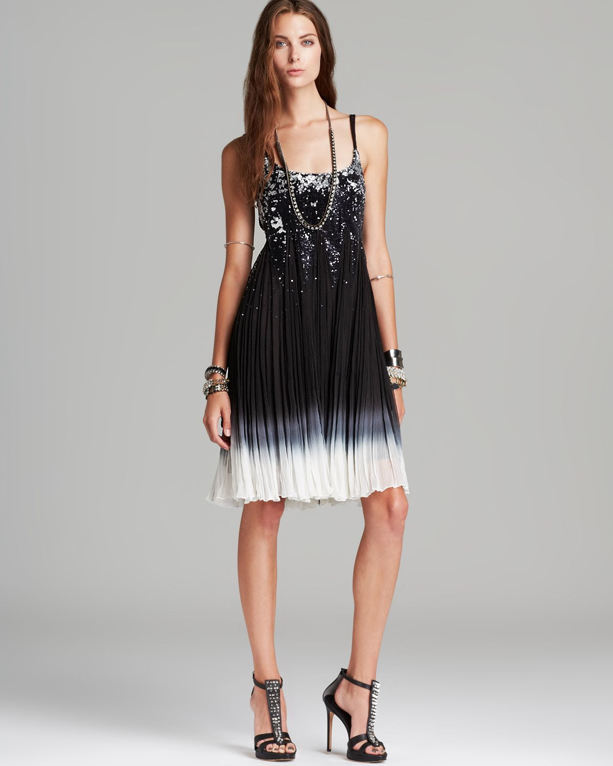 Free people Dress Supernova Sequin in Black - Lyst