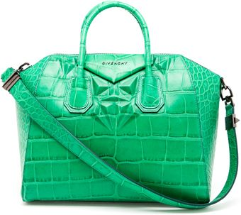Givenchy Antigona Crocodile Embossed Leather Tote Bag - Lyst