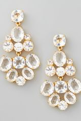 Kate Spade Crystal Chandelier Earrings Clear - Lyst