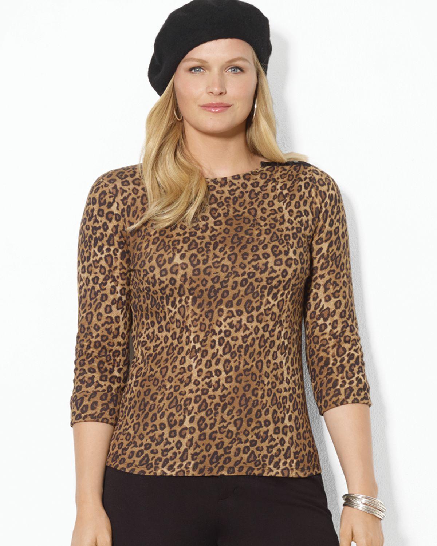 Calvin Klein Jardin Bedding: Ralph Lauren Leopard Print Top