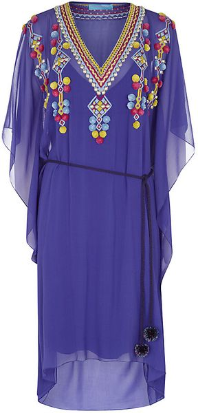Matthew Williamson Embroidered Square Dress - Lyst