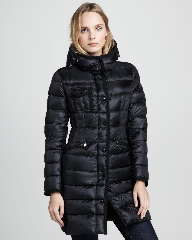 moncler hermine long down coat