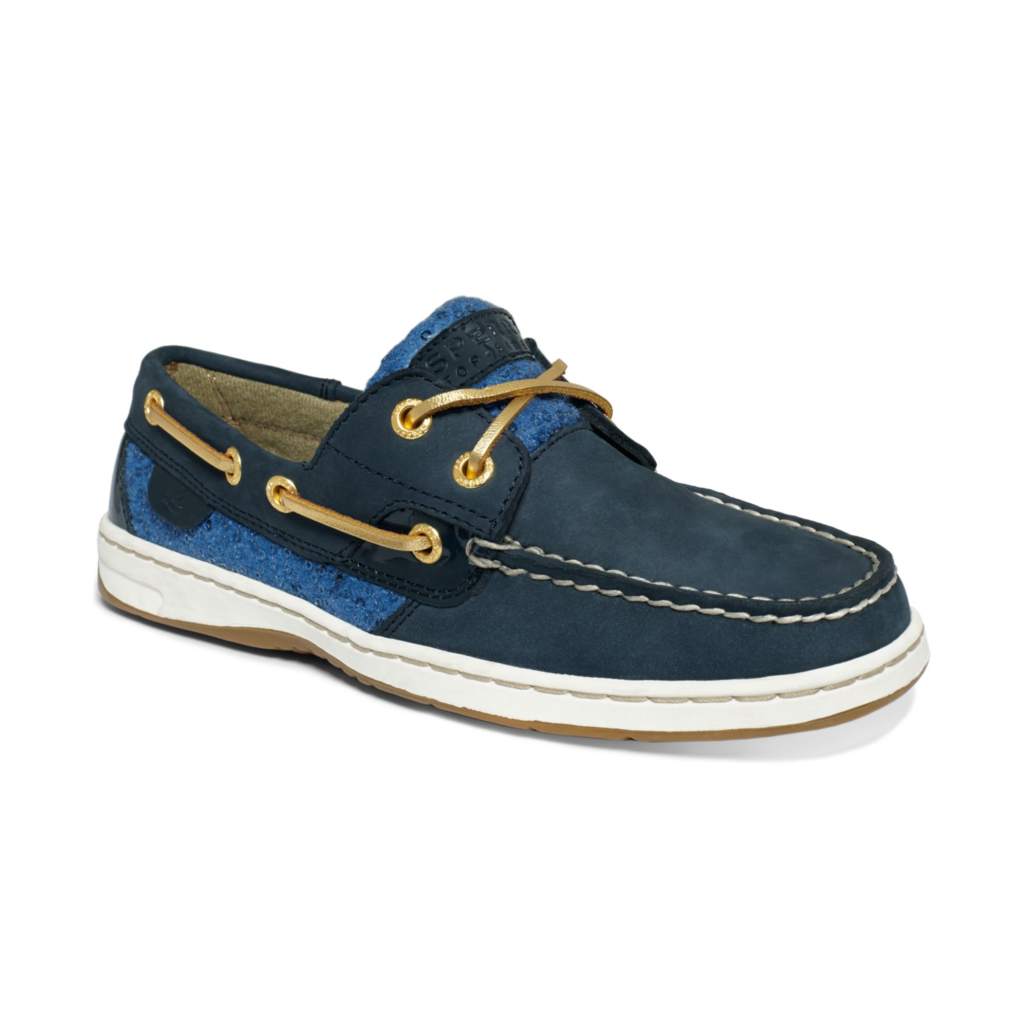 Sperry Blue Sequin Shoes