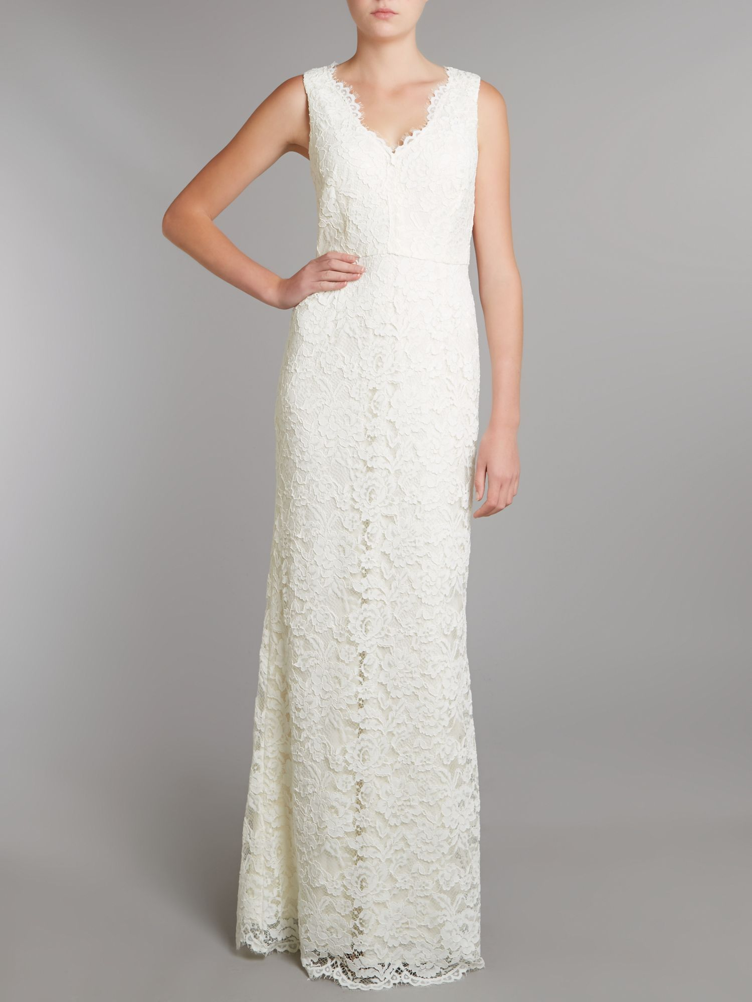 Amazing Adrianna Papell Sleeveless Lace Gown Motif - Best Evening ...