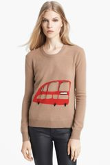 Burberry Brit Wool Cashmere Intarsia Sweater - Lyst