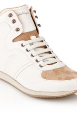 Ferragamo High Top Sneaker - Lyst