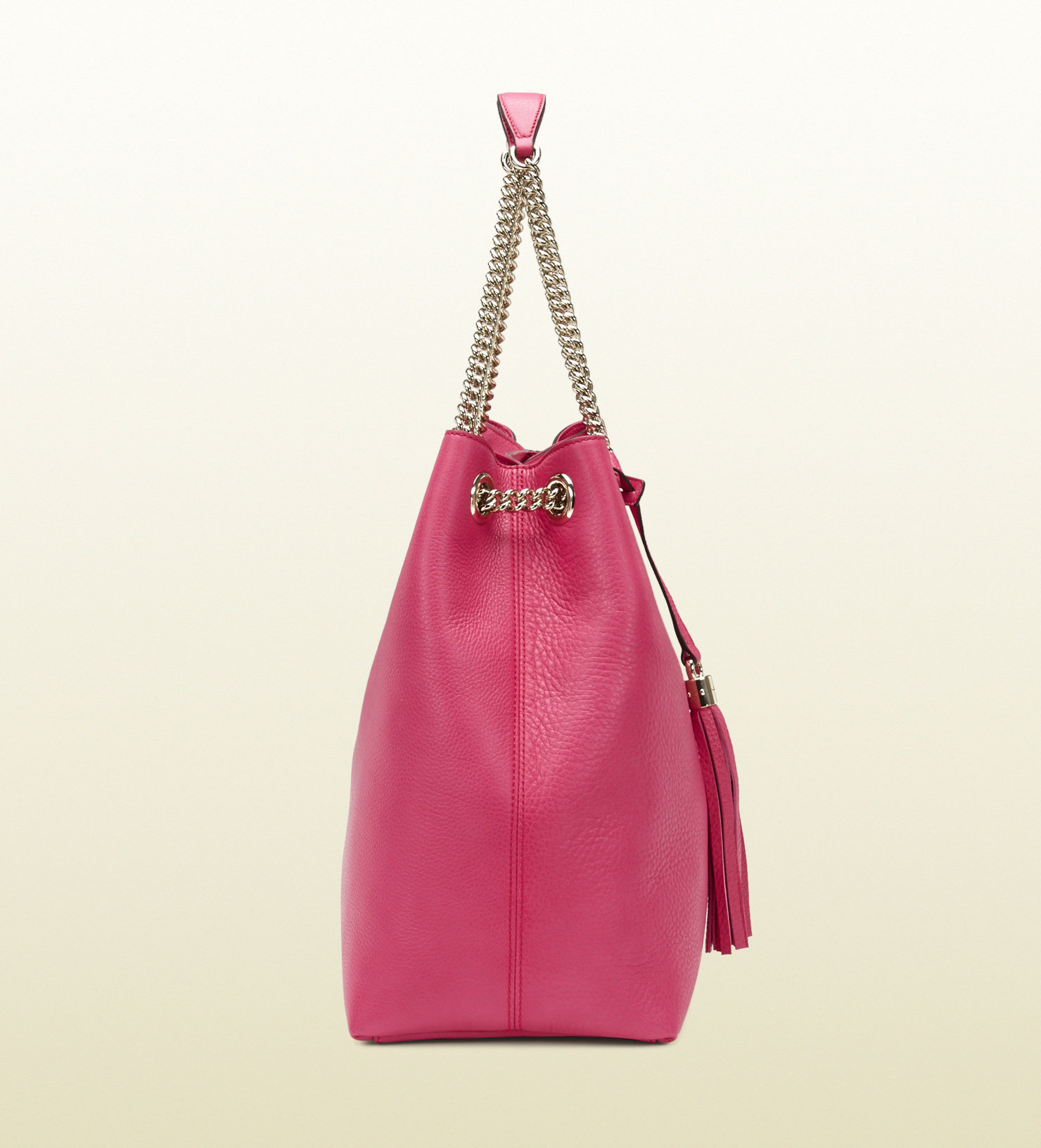 Lyst Gucci Soho Shocking Pink Leather Shoulder Bag In Pink