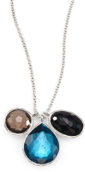 Ippolita Triple Gemstone and Sterling Silver Necklace - Lyst