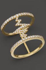 Khai Khai Diamond Trapped Shockwave Ring in 18k Yellow Gold 03 Ct Tw - Lyst