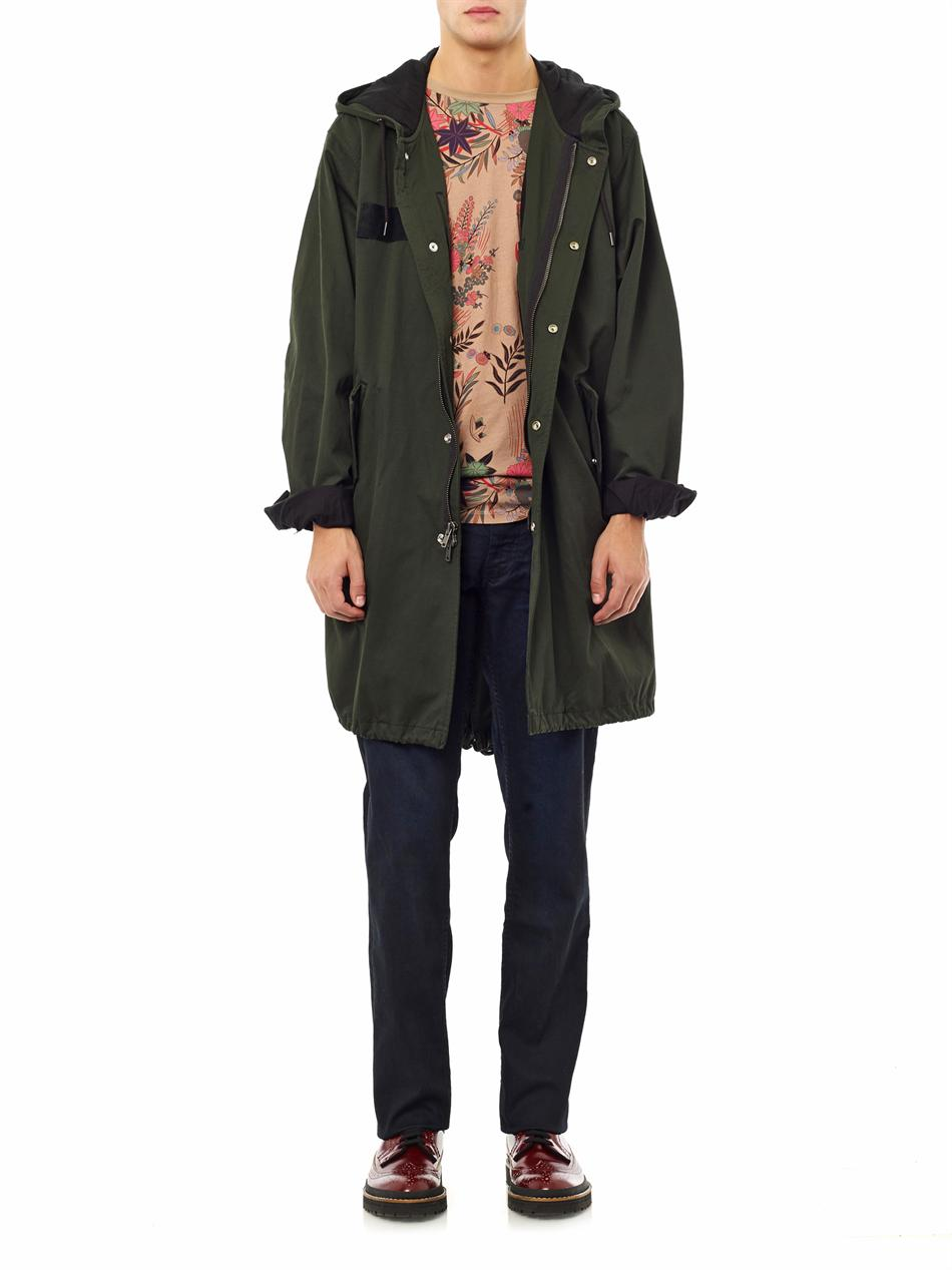 Lyst Marc By Marc Jacobs Hooded Parka Coat In Green For Men