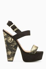 Nasty Gal Shoe Cult Dusted Platform Gold - Lyst