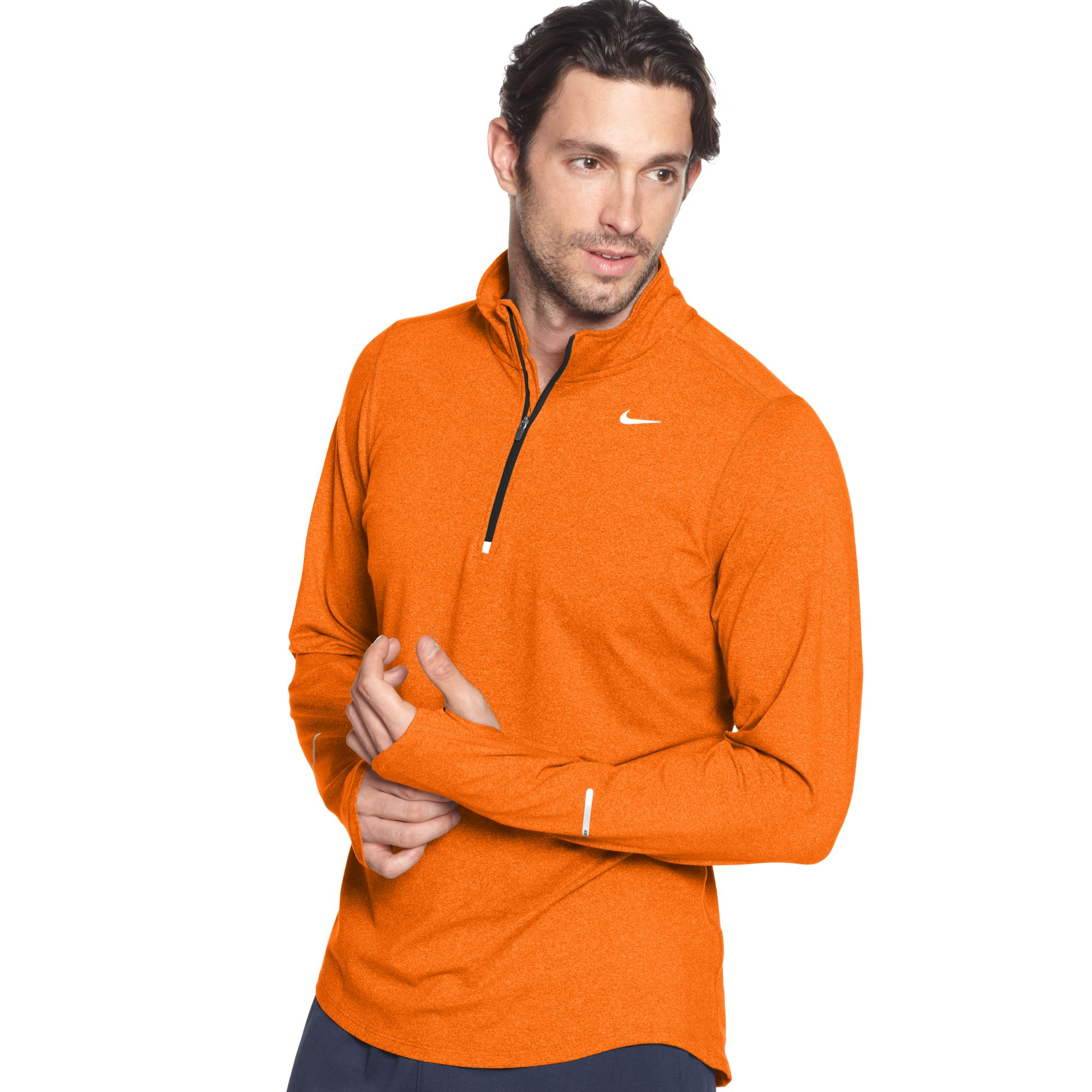 bbb3fa2e994a Lyst - Nike Pullover Element Half Zip Shirt in Orange for Men