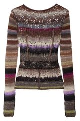 Nina Ricci Open-knit Sweater - Lyst