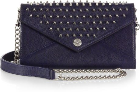 Rebecca Minkoff Studded Continental Wallet in Black (SAPPHIRE)