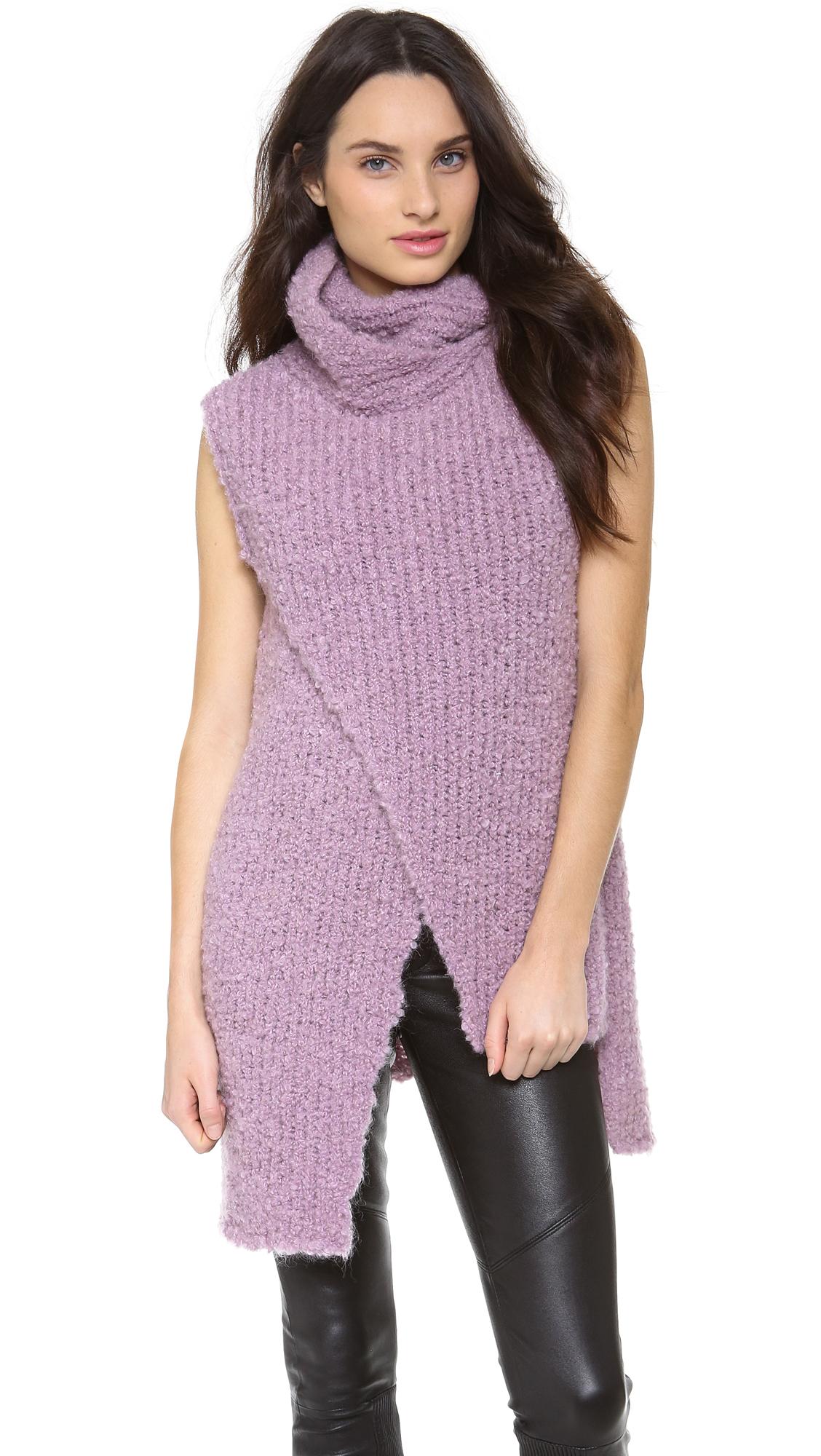 Lyst Thakoon Sleeveless Turtleneck Sweater In Purple