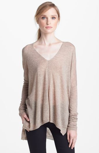 Vince Seamed Double V neck Sweater - Lyst