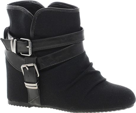 aldo elyta wedge ankle boots in black lyst