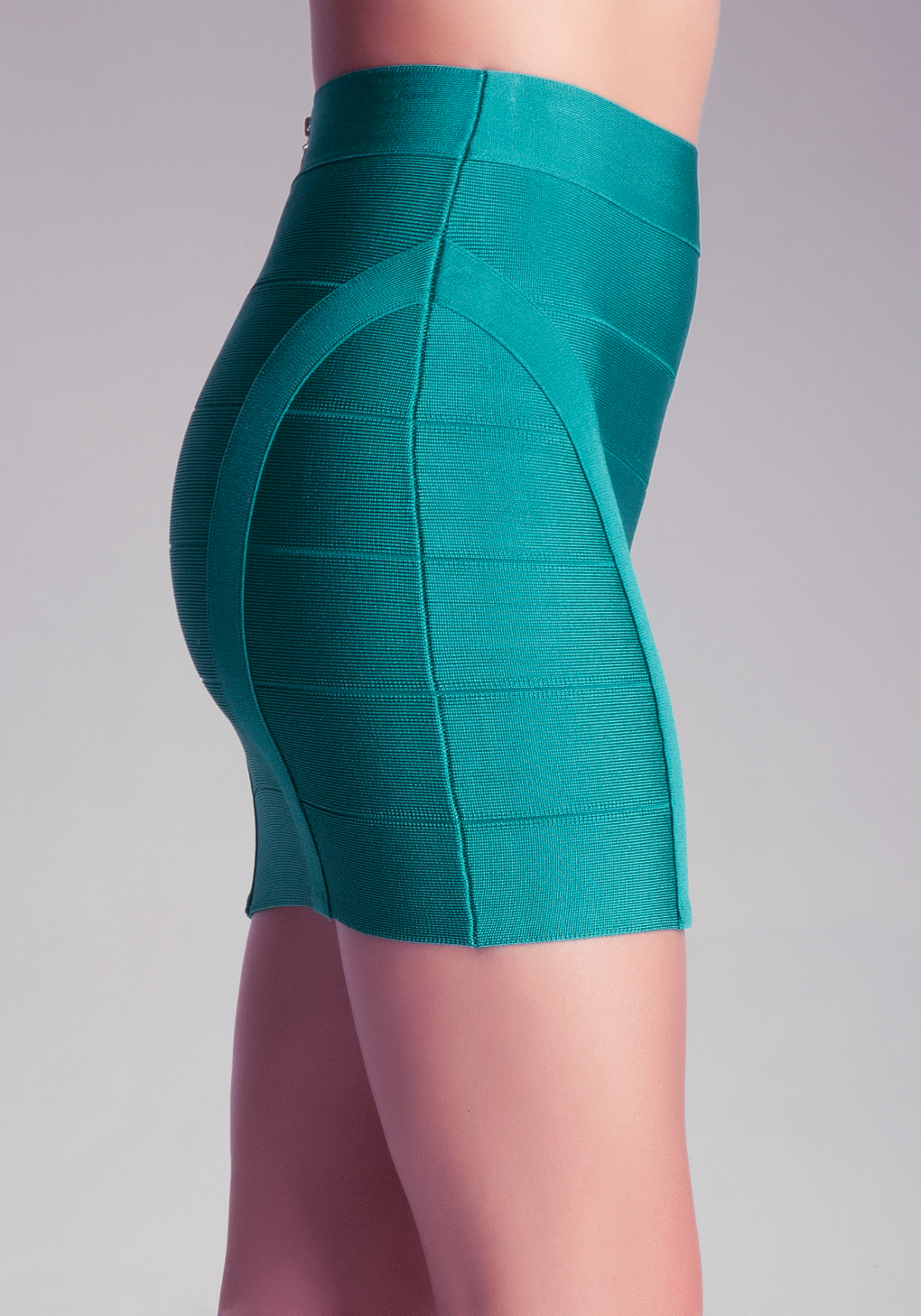 Bebe Princess Bandage Mini Skirt In Blue Green Lyst