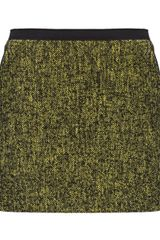 Edun Yellow Tweed Mini Skirt - Lyst