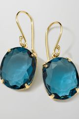 Ippolita 18k Rock Candy Gelato Kiss Drop Earrings in London Blue Topaz - Lyst