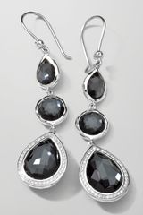 Ippolita Stella 3drop Earrings in Hematite Diamonds - Lyst