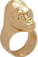 Jennifer Fisher Brass Small Gorilla Ring - Lyst