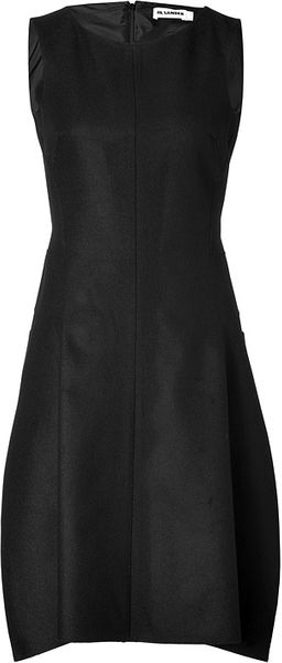 Jil Sander Wool angora Blend Picking Dress in Black - Lyst