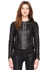 Michael by Michael Kors Studtrim Quilted Leather Jacket - Lyst