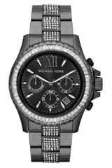Michael Kors Womens Chronograph Everest Glitz Gunmetaltone Stainless Steel Bracelet 42mm - Lyst