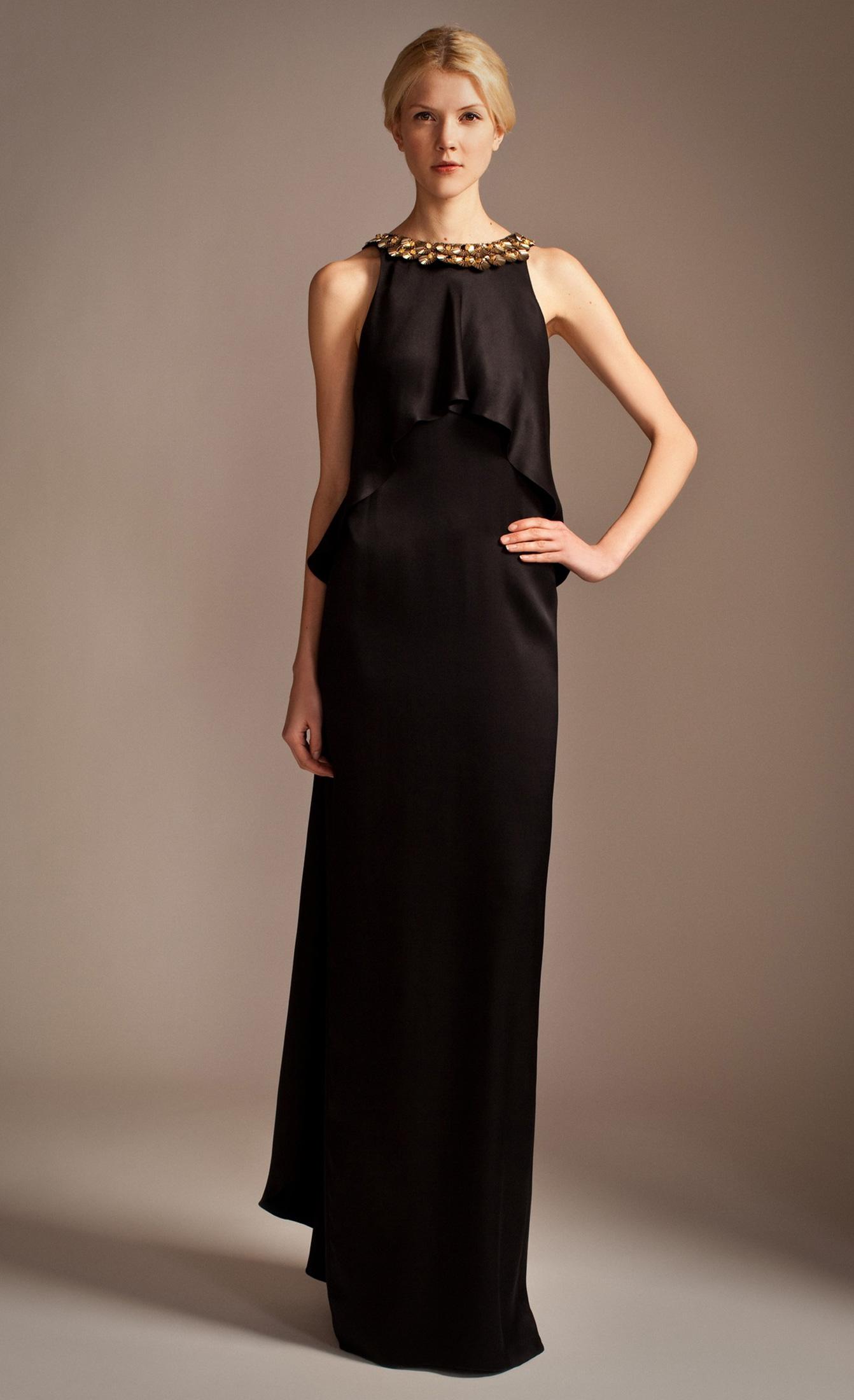 Lyst Temperley London Long Goldina Necklace Dress In Black