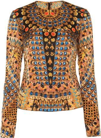 Temperley London Jasper Print Long Sleeve Top - Lyst