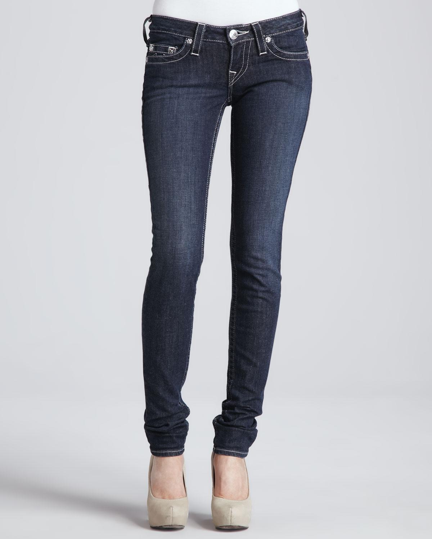 true religion stella lonestar skinny jeans in blue. Black Bedroom Furniture Sets. Home Design Ideas