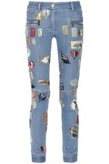 3.1 Phillip Lim Patch-appliquéd Skinny Jeans - Lyst