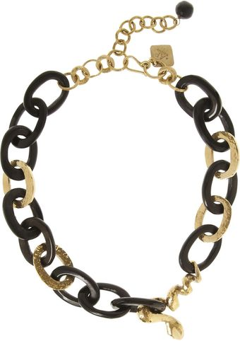 Ashley Pittman Nyoka Goldtone and Horn Necklace - Lyst