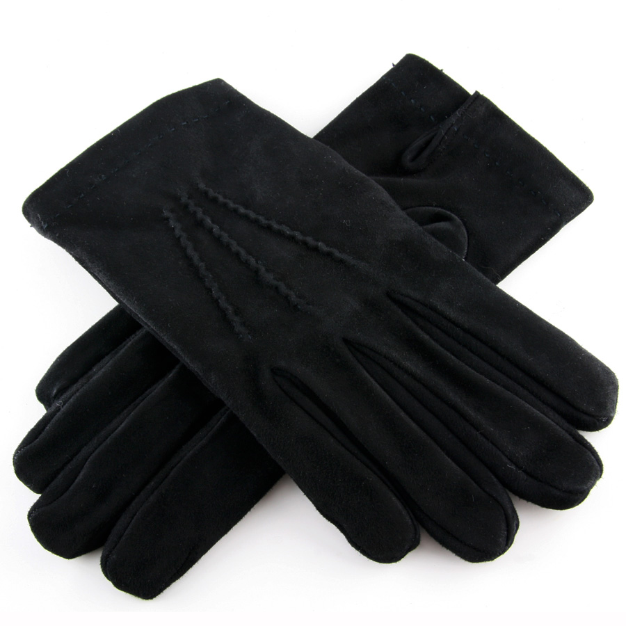 Black.co.uk Black Suede Gloves With Cashmere Lining in ...