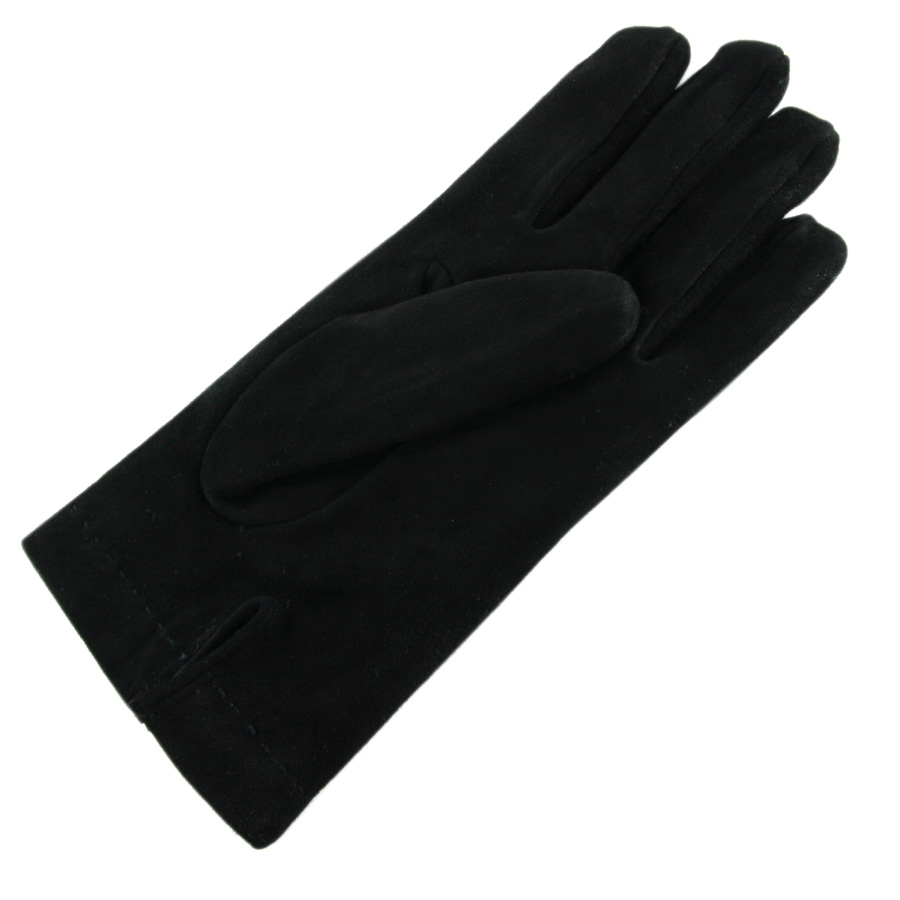 Black leather quilted gloves with cashmere lining - Be Inspired