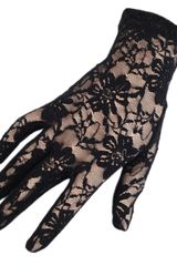 Black.co.uk Short Black Fine Lace Gloves - Lyst