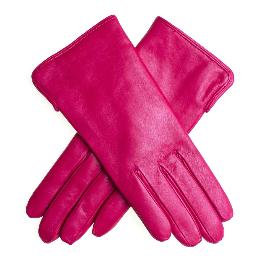 adf022155803 Lyst - Black.co.uk Fuchsia Leather Gloves With Cashmere Lining in Pink